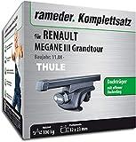 Rameder Komplettsatz, Dachträger SquareBar für Renault Megane III Grandtour (115961-08145-99)