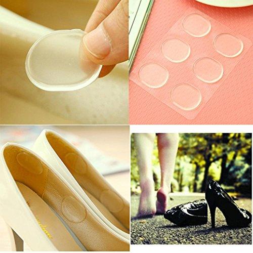 sunnymi Silikon Anti - Verschleiß Fuß Aufkleber/12PCS/Gel Einlegesohlen Kissen/Fußpflege Ferse Tragen Sticke/3,2 * 2,4 * 0,12 CM
