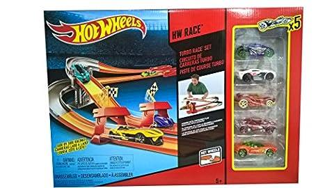 Mattel BHP99 Hot Wheels - Coffret Course Turbo avec 5 voitures