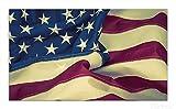 Wallario Herdabdeckplatte / Spritzschutz aus Glas, 1-teilig, 90x52cm, für Ceran- und Induktionsherde, Amerikanische Flagge im Wind
