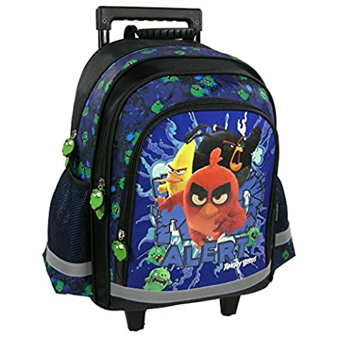Angry Birds trolley sac a roulettes sac a dos cartable