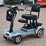 LLPDD Mobilitäts-Roller, Leichtklapp Elektro-Scooter 4-Rad-Elektro-Scooter für Erwachsene/Ältere/Behinderte Freizeit Scooter Elektro-Rollstuhl für Erwachsene und Old Man,Blau -
