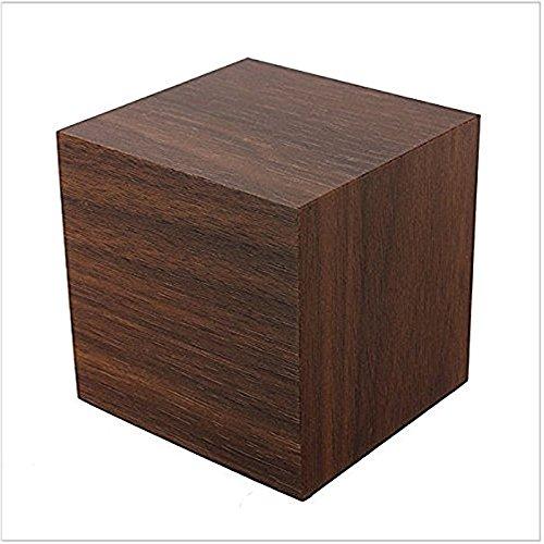 Produktbild Lanlan Digital Square Cube Mini-braun Holz rot LED-Licht Wecker mit Zeit und Temperatur Display & Sound Control