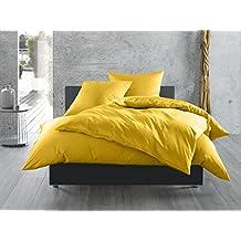 Mako Satin Baumwollsatin Bettwäsche Uni Einfarbig Zum Kombinieren  (Bettbezug 135 Cm X 200 Cm