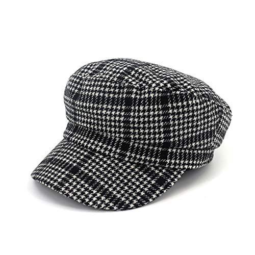 XIAXIACP Damen Hüte Modische Wilde Herbst Und Winter Woolen Flache Top-Maler Bailey Und Newboy Hüte,A