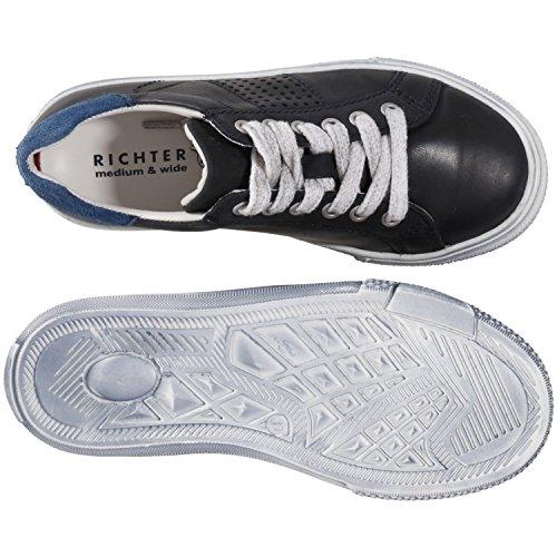 Richter Kinder Halbschuhe Sneaker blau Lederdeck Jungen-Schuhe 6224-521-7201 Marineblau