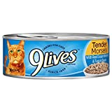 9Lives Tender Morsels With Real Ocean Whitefish And Tuna In Sauce Wet Cat Food Can, 5.5 Ounce, Pack Of 6