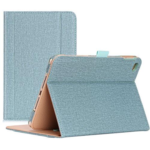 ProCase iPad Mini 4 Hülle - Leder Tribüne Folio Hülle Deckel für 2015 Apple iPad Mini 4 (4. Generation iPad Mini, Mini4), mit Mehreren Blickwinkel, Auto Sleep/Wake, Dokumentenkarte Tasche(Teal)