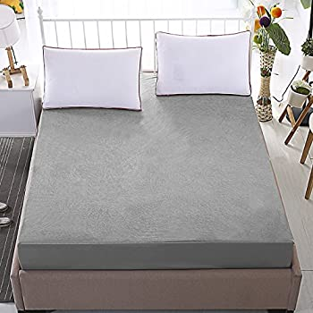 """Dream Care Luxury Grey Mattress protector(72""""x78"""")(wxl) for King size bed"""