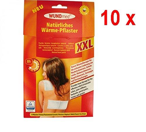 10 x Wundmed Wärme Pflaster XXL - 1 Stück (19 x 13 cm)