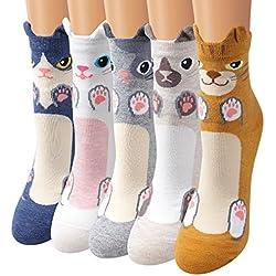 Calcetines Set, Ambielly calcetines de calidad calcetines de las muchachas calcetines de tobillo calcetines de algodón diseños ricos - Casual calcetines cómodos (CC002)
