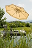 Schneider Sonnenschirm Orlando, natur, 270 cm rund, Gestell Aluminium, Bespannung Polyester, 5.7 kg