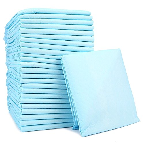 Ardisle 100 Large Puppy Training Trainer Train Pads Toilet Pee Wee Mats Dog Cat 60×45 Cm 600mm x 450mm Train Pad Floor Home Teaching Potty Super Absorbent Mat Disposable For Puppies Pup House train Floor Carpet Poo New
