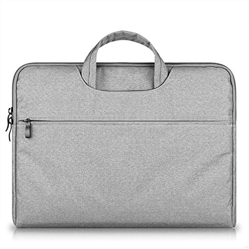 G7Explorer Water-resistant Laptop Sleeve Case Bag Portable Computer handbag For Macbook Pro Air and other Notebooks 11.6 inches Gray