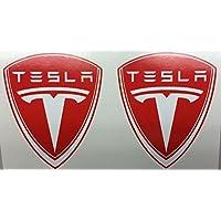 Sticker-Designs 10cm Aufkleber-Folie Wetterfest Made IN Germany Tesla-2003 AD429-Logo UV/&Waschanlagenfest Vinyl-Auto-Sticker Decal Profi Qualit/ät bunt farbig Digital-Schnitt! 2St/ück