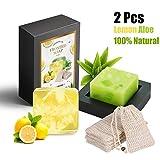 2 x Handgemachte Seife, GXR Naturseife 100% Natürliche Handseife mit Zitronengras,Aloe Vera,...
