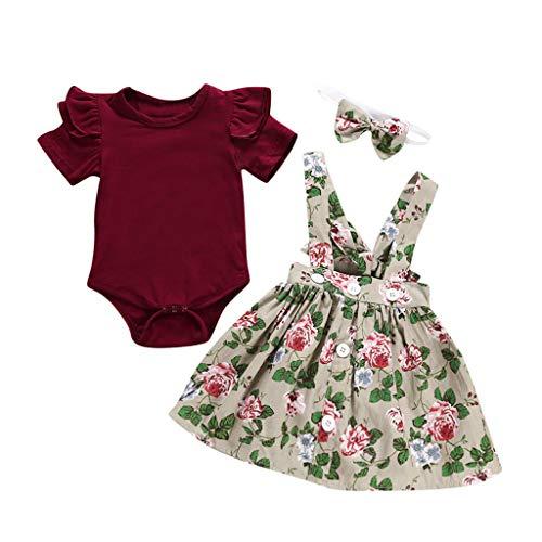 Mädchen 3Pcs Baby Kleinkind Kinder Prinzessin fest Brautkleider -