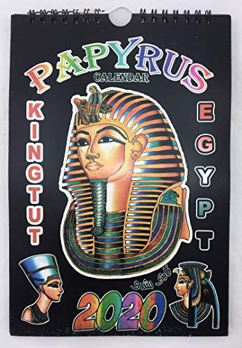 Papyrus-Kalender 2020 - Kalender - Jahreskalender - Ägypten - Papyrus - Wandkalender - Spiralbindung - Dekoration - 6 Seiten - 25 x 17 cm