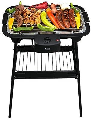 Unbekannt 2 in 1 Elektro Grill | Standgrill | Tischgrill | Partygrill | elektrischer BBQ Grill | Cool Touch Griffe | Tisch Grill elektrisch | 2.000 Watt