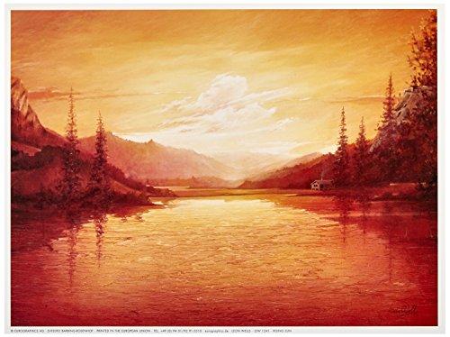 Euro grafica LEW 1241 Leon Wells, Rising Sun 18 x 24 cm, stampa artistica di elevata qualità - Sun - Mare