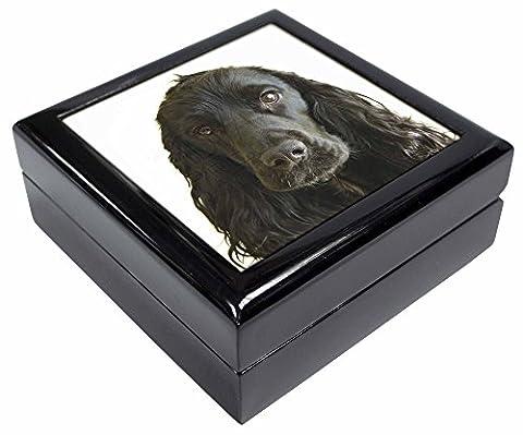 Black Cocker Spaniel Dog Keepsake/Jewellery Box Christmas Gift
