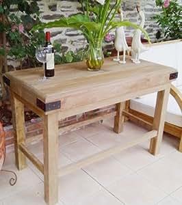 Boucher table en teck recyclé