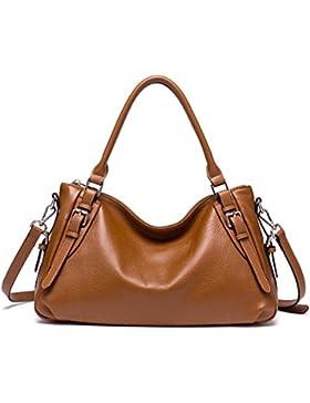 BOSTANTEN Damen Leder Handtaschen Umhängetasche Schultertasche Tote Bag