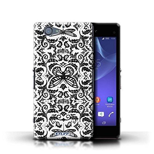 Kobalt® Imprimé Etui / Coque pour Sony Xperia A2 / Noir / Blanc conception / Série Motif médaillon Noir / Blanc