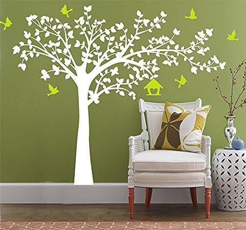 Yanqiao Vögel Fliegen auf Baum Wandtattoo Wandaufkleber Wand Aufkleber DIY für Wohnzimmer Schlafzimmer Kinderzimmer Entfernbares Vinyl Kunst Haus Dekoration Größe