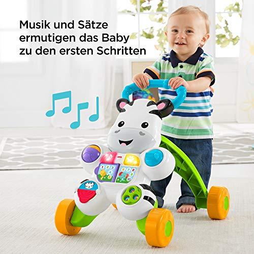 Fisher-Price DLD94 Zebra Lauflernwagen Lauflernhilfe mit Musik und Lichtern lehrt Buchstaben und Zahlen, ab 6 Monaten deutschsprachig - 5