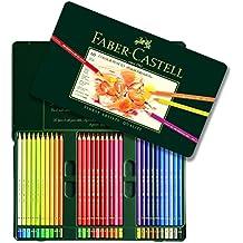 Faber-Castell 110060 - Estuche de metal con 60 ecolápices polychromos, multicolor