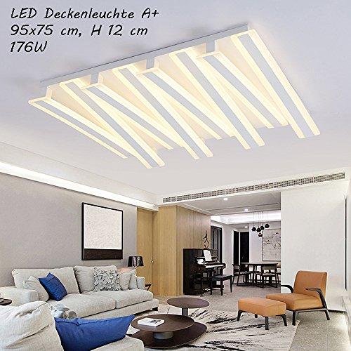 NXW812-8 Fl LED Deckenleuchte mit Fernbedienung ist die Lichtfarbe/Helligkeit einstellbar A+LED Wohnzimmerleuchte Kronleuchte Pendelleuchte Deckenlampe Deckenstrahler LED Deckenleuchte (NXW812-8 Fl)