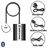 Bluetooth USB AUX Musik Adapter mit Freisprecheinrichtung inkl. Mikrofon + Kabelfernbedienung für VW R100 R110 RCD/RNS 200 300 210/310 RNS MFD2 | Audi Concert Chorus RNS-E BNS 5.0 | Seat | Skoda