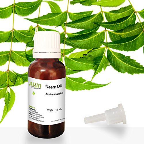 Allin Exporters Neem Oil 15 Ml Wild Crafted Pure Cold Pressed Unrefined 100% Pure ,Natural & Undiluted For Skincare,Hair Care & Natural Bug Repellent