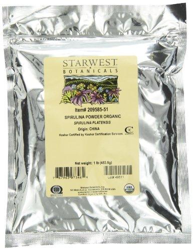 Starwest Botanicals zertifiziert Bio Spirulina Pulver, 1Pfund Bulk Tasche -