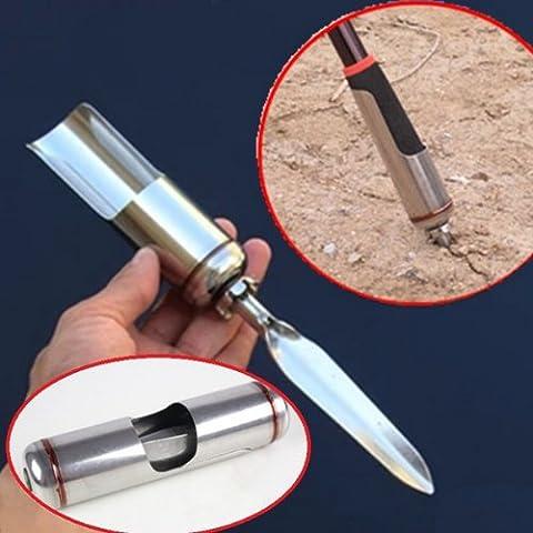 Pesca Pole varilla soporte soporte para suelo de acero inoxidable.