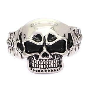 STAINLESS STEEL Stylish Skeleton Skull Cuff Bangle / Bracelet (LIFETIME WARRANTY)