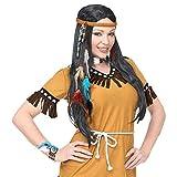 NET TOYS Tolle Indianer-Schmuck Accessoires | 5-teilig | Stylisches Damen-Kostüm-Zubehör Schmuck-Set Squaw | Perfekt geeignet für Karneval & Mottoparty