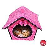eizur Lovely Red Princess Fashion Pet House Hundebett Hundehütte Carrier Weich Kaschmir Warm abnehmbar & waschbar Katze Puppy Weiches Kissen Bett raum mit Pads –-S/M/L
