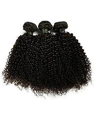 """BLISSHAIR Lot de 3 Bresilienne Virgin Hair Baby Deep 10"""" court cheveux Bresilienne vierges de Tissages Lot de 200 g/Extensions de cheveux humains"""
