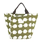 Violet Mist Reuseable Cute Cotton Lunch Bag Well Insulated Lunch Box Tote Waterproof