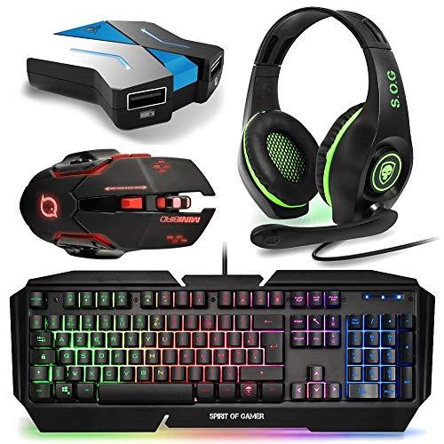 HND Starter Pack Combo Tastatur Maus Kopfhörer für Xbox One