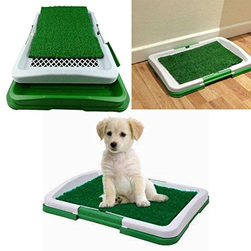 UEETEK Cachorro de Perro de Perro Gato de Cachorro Interior de Baño Potty Trainer 3 Capas de Pee Pad de Hierba