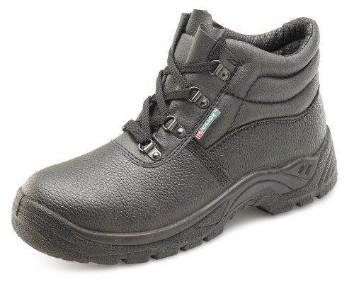 Click Dual Density Chukka D Ring Safety Boot Black - Size 43/9 (Boot Safety Eyelet)