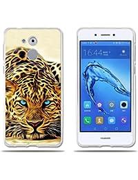 fubaoda Funda Huawei Honor 6C/Nova Smart/Enjoy 6s Exótico Dibujo de un Leopardo