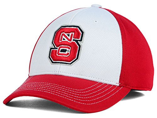th Carolina State Wolfpack NCAA Memory Passform Vorne 9 Stretch Spannbettlaken Rot/Weiß Hat Cap, Rot/Weiß, Small/Medium ()