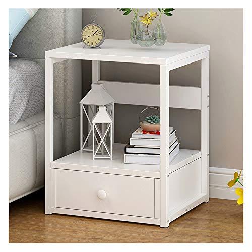 2 Schublade Nachttisch Holz-finish (XCJ Nachtschrank, Nachttisch Weiß, Nachttisch Mit 2 Schubladen - Nachttisch Aus Holz Nachttisch Konsolentisch Kommode Schlafzimmer Nachttisch (Color : White 2))
