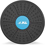 JLL® Plastic Balance Board Exercise Fitness Yoga Pilates Workout Rehabilitation Wobble Board. Includes Attachable More Rounded Base For Greater Difficulty ...