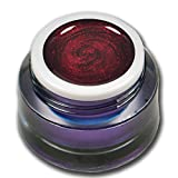 Premium Glittergel Colorgel Farbgel UV-Gel 5ml Tender Rot (Feines Glitter)
