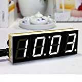 Generic 1pc DIY Digital LED Electronic Microcontroller Clock kit Large Screen Display Time(White)